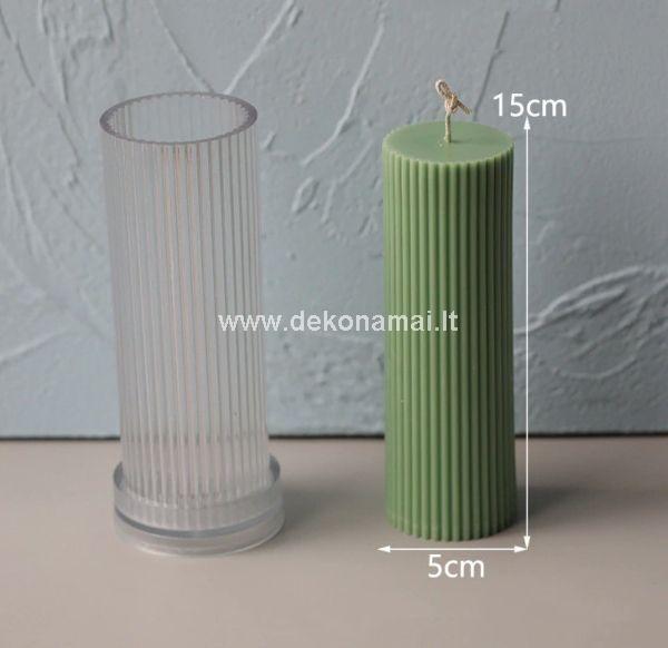 Daugkartinio naudojimo skaidraus plastiko forma žvakių gamybai.<p>Išmatavimai: 150x50mm. </p>