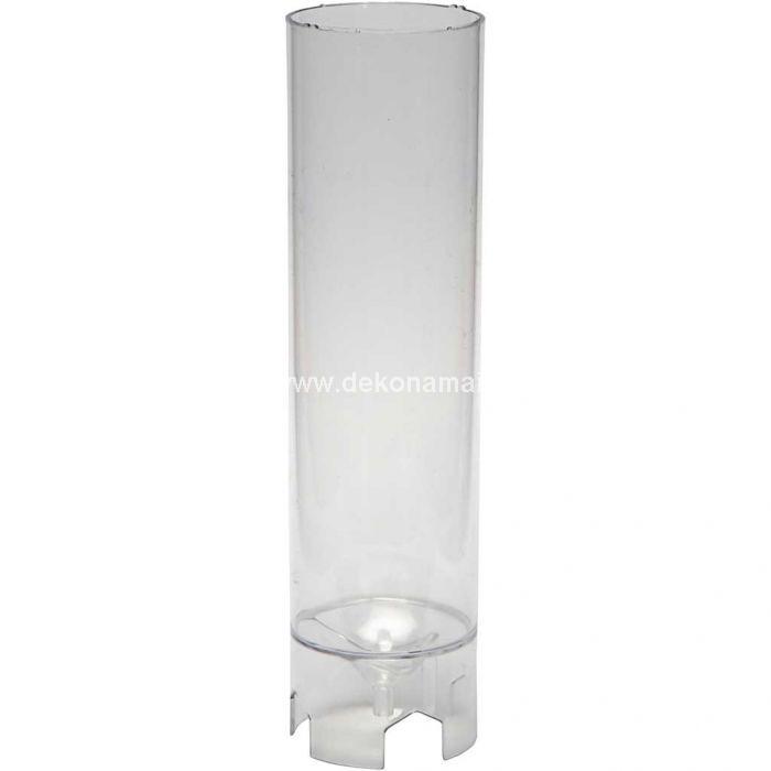 Daugkartinio naudojimo skaidraus plastiko forma žvakių gamybai.