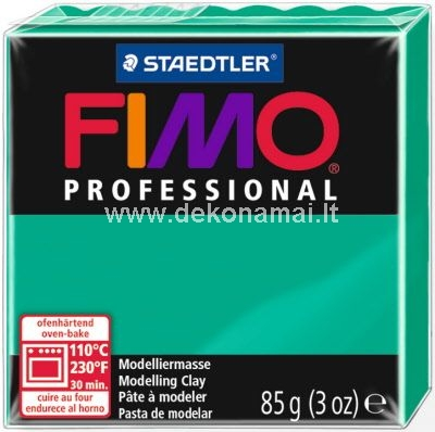 Orkaitės kepamas (prie 110oC 30 min.) profesionalus modelinas blokais 85g<br />Jis keičia FIMO Classic;<br />Aukščiausia kokybė meistriškam rezultatui;<br />Itin plastiškas ir labai stabilios formos;<br />Patvari forma suminkius;<br />Tikroms spalvoms naudojami natūraliausi pigmentai kad suminkius gautūsi puikūs rezultatai;<br />Blokai naudojant yra lengvai uždaromi ir atidaromi;<br />Ši kokybė rekomenduojama specialistams, ekspertams ir menininkams.