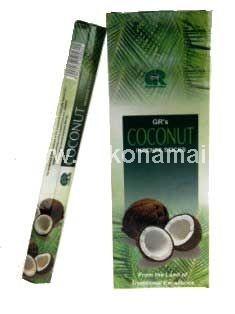 Smilkalai Kokosas<p>Pakuotėje yra 20vnt smilkalų lazdelių. </p><p>Degimo laikas apie 30 minučių.</p><p><br />Kilmės &scaron;alis: Indija</p>