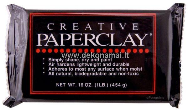 Paperclay skirtas lėlių, papuošalų, skulptūrų, ornamentų, miniatiūrų gamybai.<br />Baltos spalvos masė stingstanti ore.