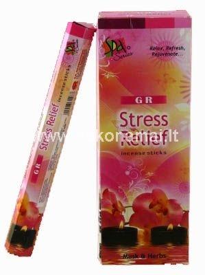 Smilkalai Stresui Mažinti<br /><p>Pakuotėje yra 20vnt smilkalų lazdelių. </p><p>Degimo laikas apie 30 minučių.</p><p><br />Kilmės šalis: Indija</p>
